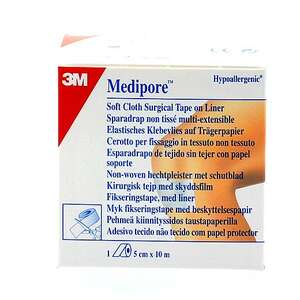 3M Medipore, rulle 5 cm x 10 m