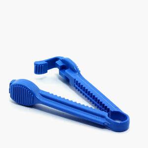 Kateter klemme plast blå