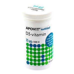 Apovit D3-vitamin 25 ug