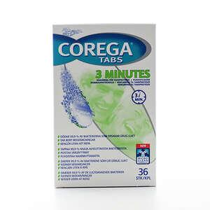 Corega Tabs 3 minutes