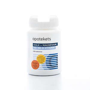 Apotekets Kalk + Magnesium, K2- og D-vitamin