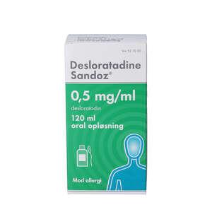 """Desloratadine """"Sandoz"""" 0,5 mg/"""