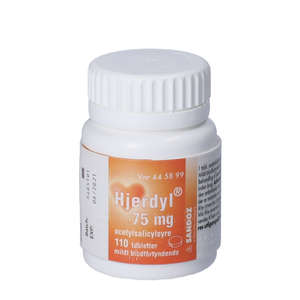 Hjerdyl 75 mg 100 stk