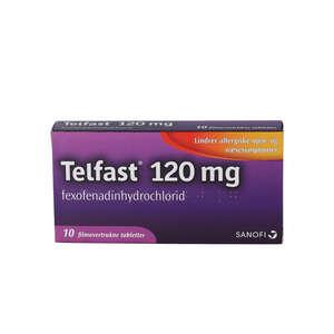 Telfast 120 mg 10 stk