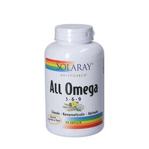 Solaray All Omega 3-6-9 Kapsler (90 stk)