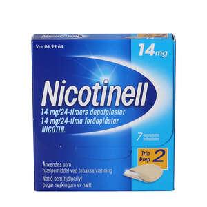 Nicotinell 14 mg/24 timer 7 stk