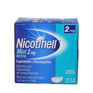 Nicotinell Mint 2 mg 204 stk sugetabletter