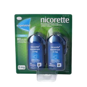 Nicorette Cooldrops 2 mg 4 * 20 stk