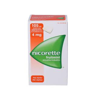 Nicorette fruitmint 4 mg 105 stk