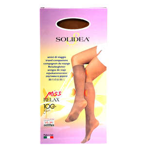 Solidea Miss Relax 100 Sheer Knæstrømpe (S/Camel)