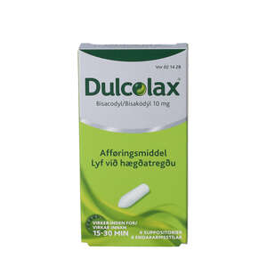 Dulcolax suppositorier 10 mg 6 stk