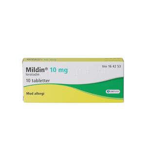 Mildin 10 mg 10 stk