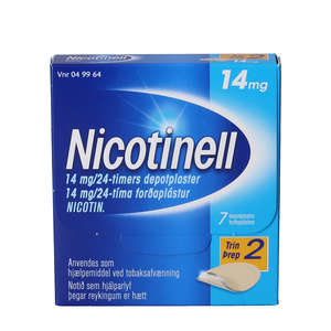 Nicotinell 14 mg/24 timer 7 stk