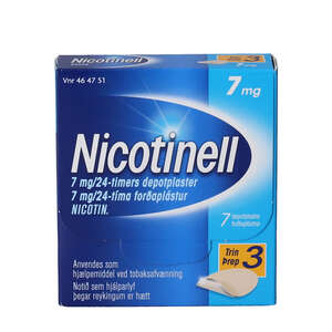 Nicotinell 7 mg/24 timer 7 stk