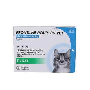 Frontline Pour-On Vet. (kat) 4 stk