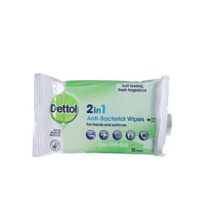 Dettol 2in1 Anti-Bacterial Wipes