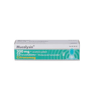 Mucolysin 200 mg 25 stk