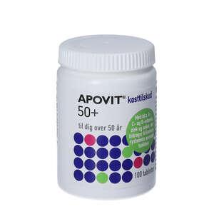 Apovit 50+ Multivitamin tabletter 100 stk
