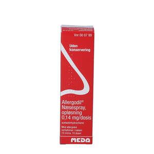 Allergodil næsespray 0,14 mg