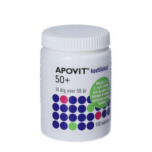 Apovit 50+ Multivitamin tabletter 100 stk