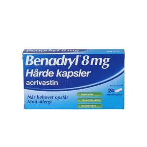 Benadryl 8 mg 24 stk