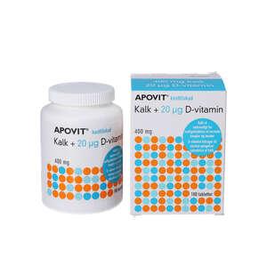 APOVIT kalk + 20 mikrg d-vitamin