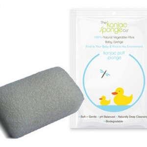 Konjac Sponge Baby (Hvid/firkantet)