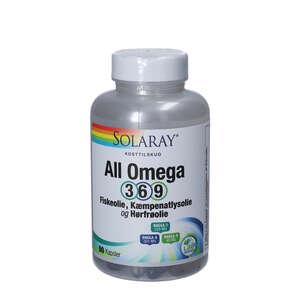 Solaray All Omega 3-6-9 Kapsler (90 stk.)