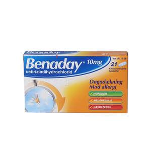 Benaday 10 mg 21 stk