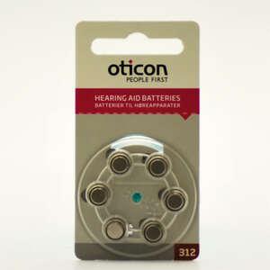 Oticon Batterier Høreapp 312