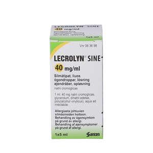 Lecrolyn Sine øjendråber 5 ml