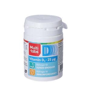 Multi-tabs D3-vitamin tabletter 180 stk (25 mikrog)