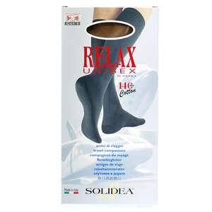 Solidea Relax Unisex Cotton Knæstrømper (S/natur/lukket)